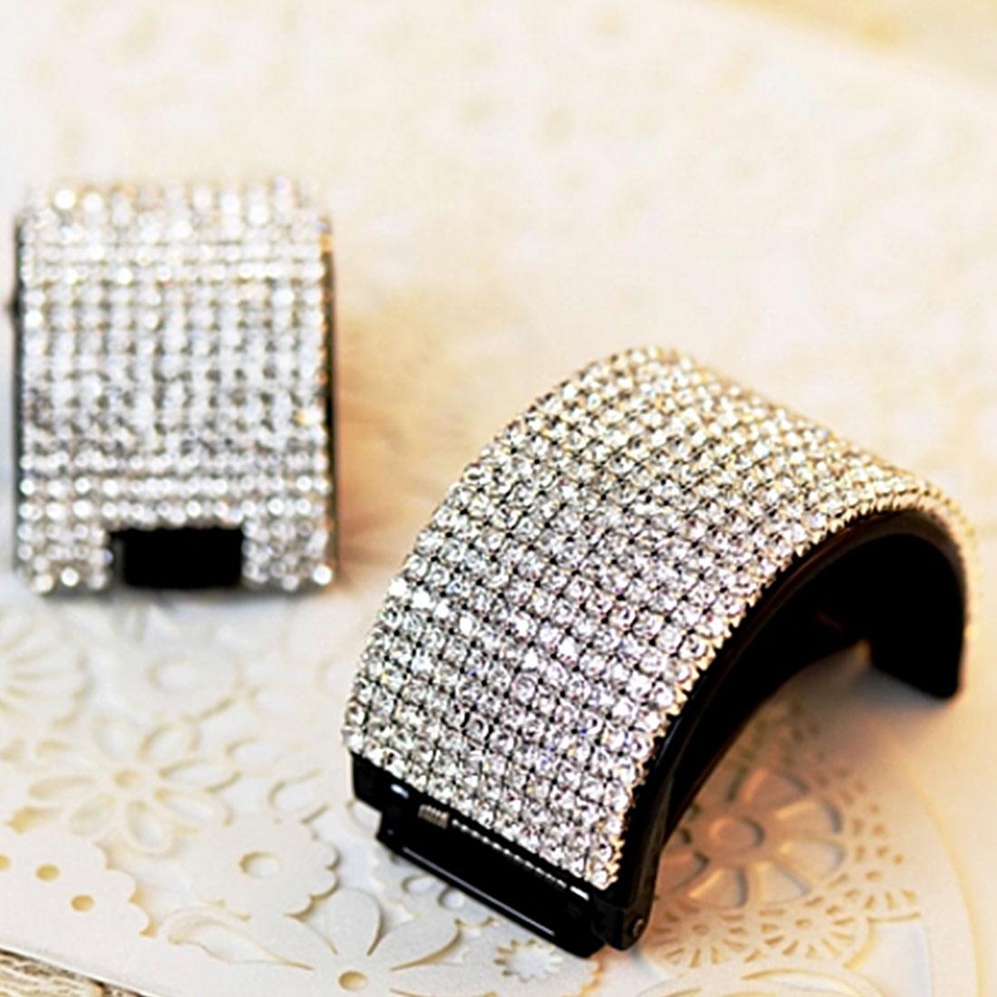Elegant Full Crystal Women Hairs Clip Hairpin Rhinestone Clamp Accessories High Quality New Arrival Banana Hair