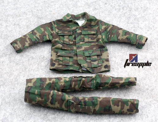 Clothes Set Soldier Accessories 1/6 Scale Jungle Camouflage Combat Uniforms For 12