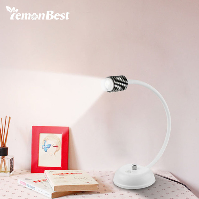 Desk Lamp Office Led Flexible Table Reading Light Cold Warm