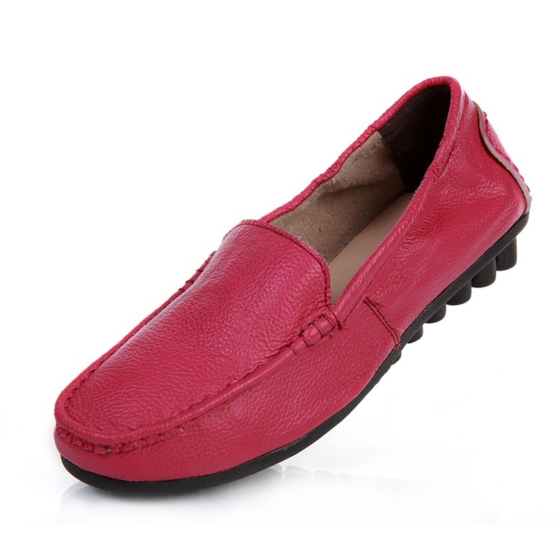 New autumn women flats genuine leather shoes women casual loafers flat heel Moccasins shoes soft outsole breathable flats women bakkotie 2017 new autumn baby boy casual shoes khaki genuine leather black kid girl brand flat shoes soft sole breathable child