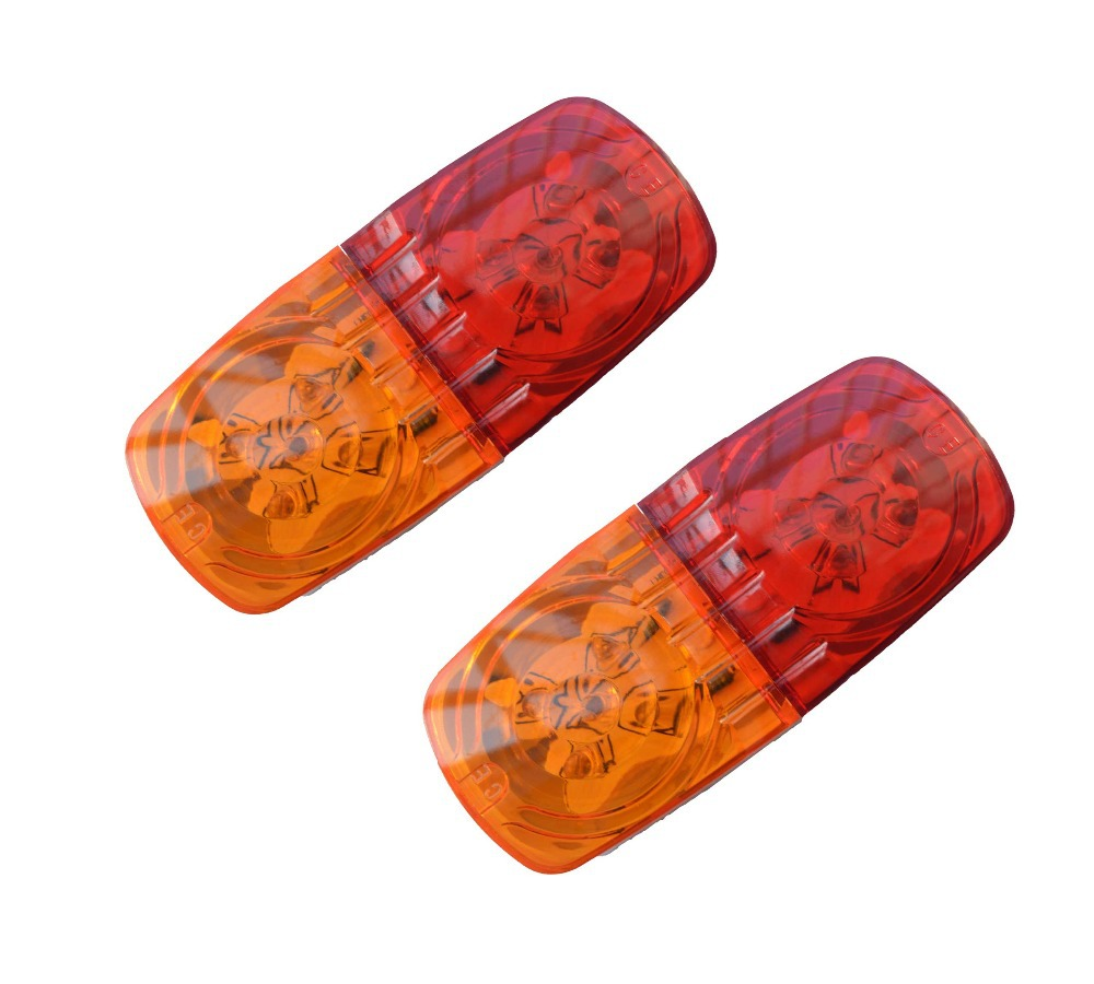 Pair Of 12V Amber/Red 4