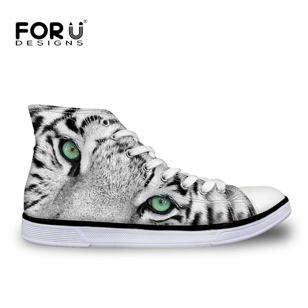 womens Skateboarding Shoes Canvas animal tiger pattern Sport Sneaker