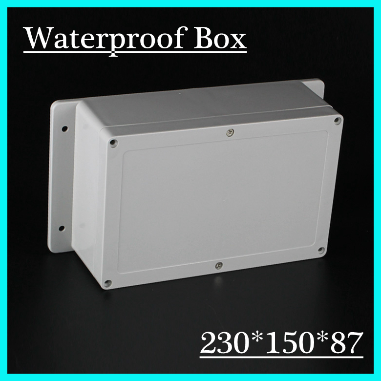 (1 piece/lot) 230*150*87mm Grey ABS Plastic IP65 Waterproof Enclosure PVC Junction Box Electronic Project Instrument Case 1 piece lot 320x240x155mm grey abs plastic ip65 waterproof enclosure pvc junction box electronic project instrument case