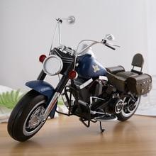 Retro Motorcycle Model Iron Handicraft Motor Shop Window Cafe Bar Decoration Motorbike Crafts Home Decor Photography Props