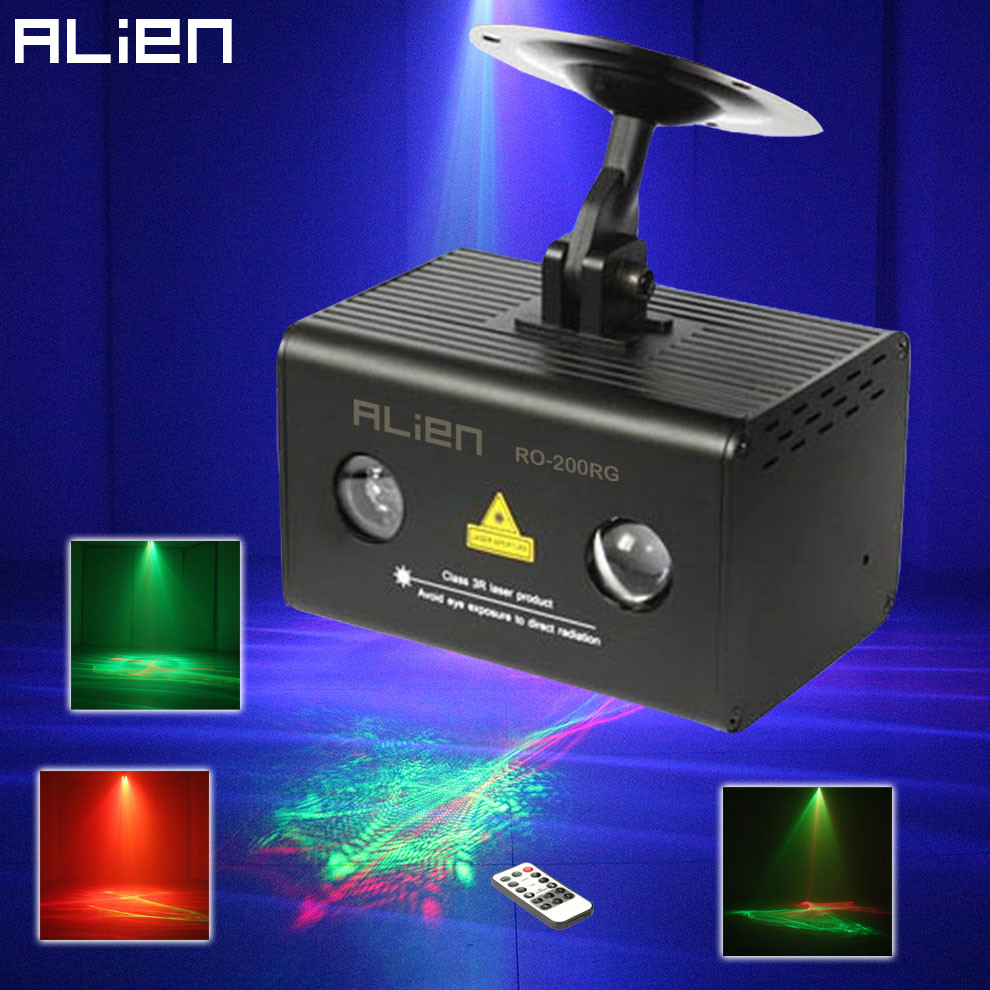 Alien mini remote rg aurora laser light projector stage for Home lighting effects