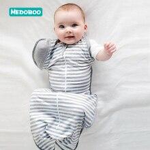 Medoboo Baby Sleeping Bag Baby Sleep Sack Thin Slumber Newborn Sleeping Wrap Cotton Striped Swaddle Sleeper Wrap