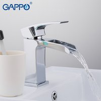 GAPPO water mixer Basin sink faucet tap bathroom sink mixer tap waterfall brass basin mixer faucet basin sink water taps