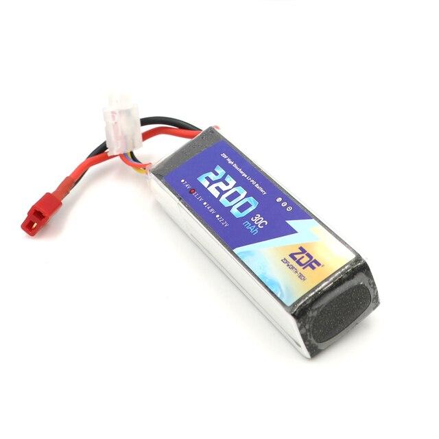 ZDF RC Lipo Battery 2S 3S 4S 6S 7.4V 11.1v 14.8v 22.2v 2200mAh 30C 60C AKKU Bateria For RC Model Car Airplane