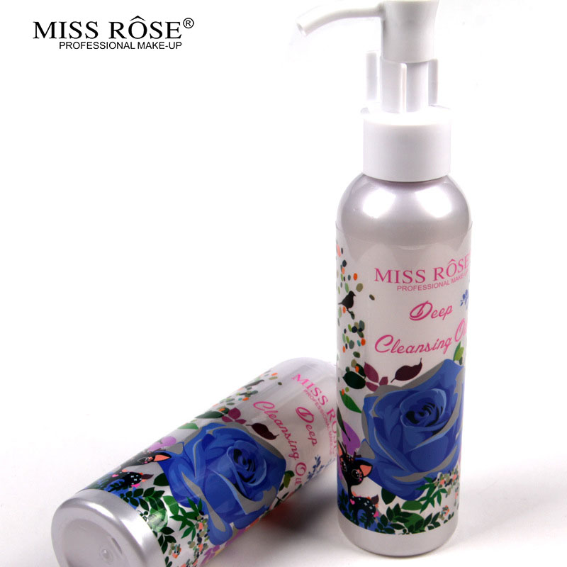 Miss Rose Makeup Remover Cosmetics Face Cleansing Oil 120ML Liquid Deep Cleansing Lotion Shrink Pores Lip Eye Clean Facial Care1