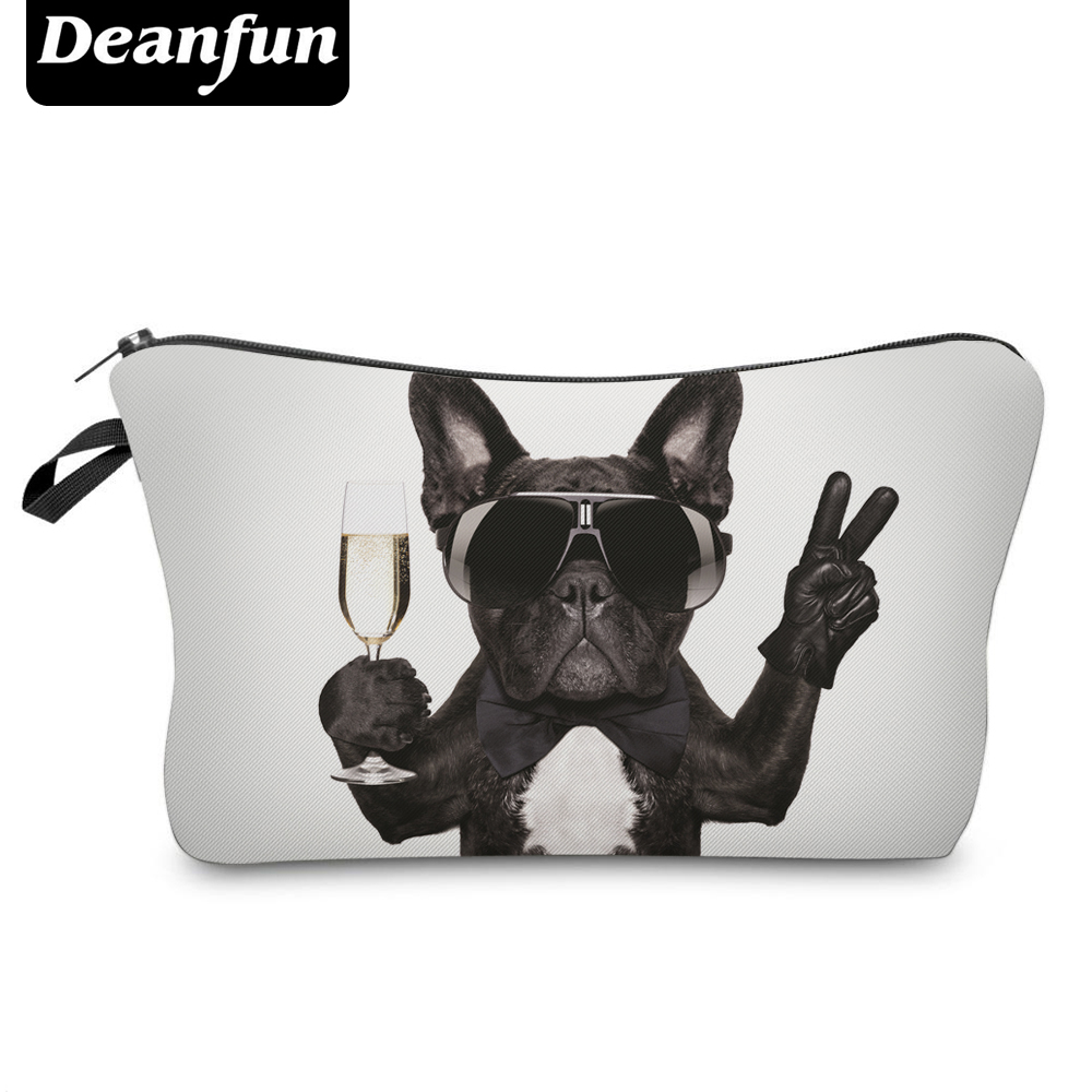 Deanfun 3D Printing Pug Cosmetic Bags Women Travelling Makeup Organizer Necessaries   50905