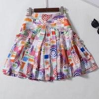 High Quality Mini Silk Skirts for Women A line Elegant Slim Elegant Skirts 2019 New Women Floral Skirts