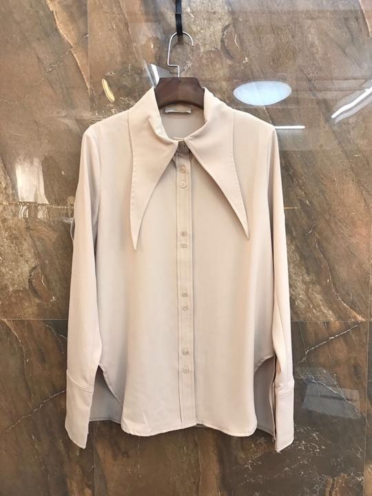 Col 2019 Chemise Femmes Mode Vêtements Nouveau Gamme De Pointu Couleur 226 Net Haut wFwfOv