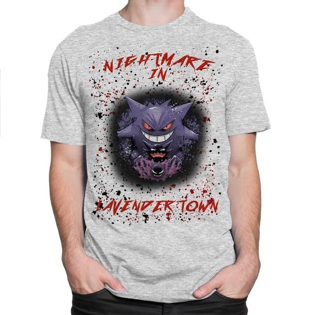 30c25889 Create T Shirt Online Short Nightmare In Lavender Town Mens Tee Gengar  Haunter Gastly T-Shirt S-3xl Crew Neck Printed