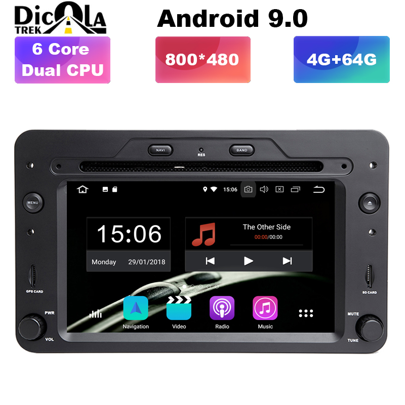 4G 64G 6 Core Dual CPU Android 9 0 Car DVD PLAYER For Alfa Romeo Spider