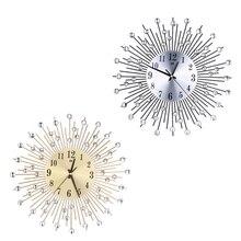 38cm Luxury Diamond Wall Clocks 3D DIY Modern Rustic Home Wall Clock Home Decor Living Room Wall Watch Home Wedding