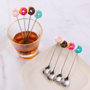 Dinnerware Fork Flatware Spoon Dessert Donut Coffee-Ice-Cream Kitchen Candy Stainless-Steel