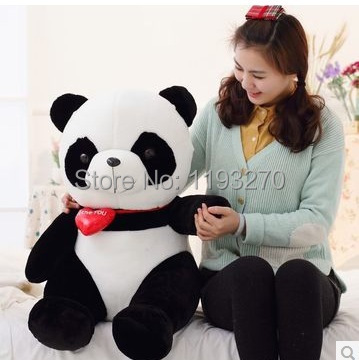 large 55cm panda plush toy  i love you heart panda doll birthday gift w6802 big lovely panda toys sitting panda plush doll with red heart soft toy birthday gift about 90cm
