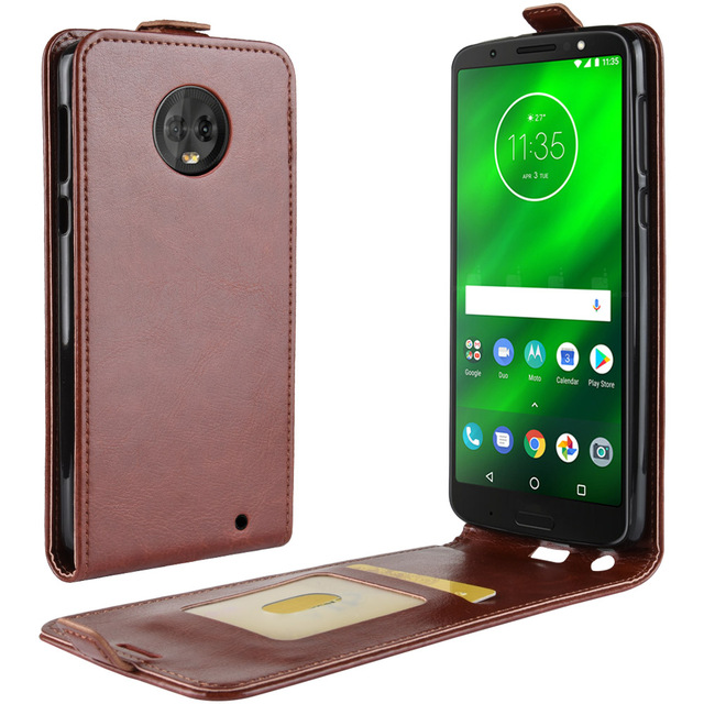 newest 9399b fd785 US $3.04 25% OFF|Up and Down Flip Leather Case for Motorola Moto X4 G6 E5  Plus Retro Phone Cover Wallet Function Card Money Photo Slots Holder-in  Flip ...