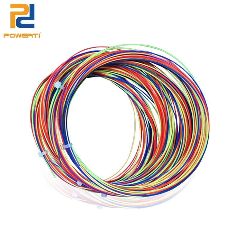 Powerti Nylon Rainbow Badminton String Durable Racquet String Better than BG65 0.68mm 22- 28 lbs