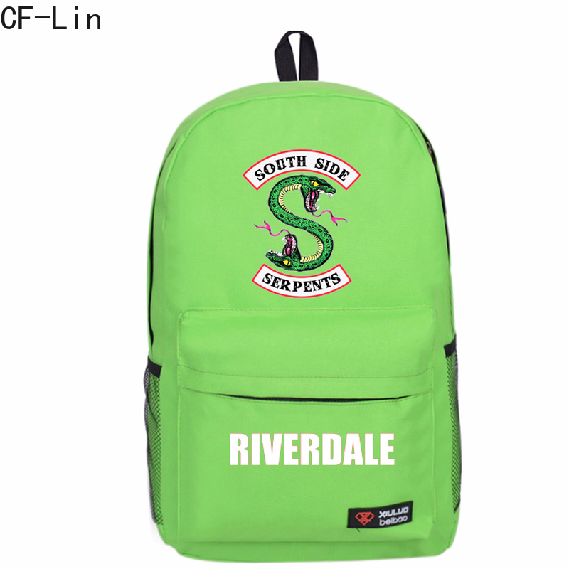 2019 New Hot Style Riverdale Backpacks for Teenager Boys and Girls Starts Flash Space Schoolbag Students Bookbag Kids