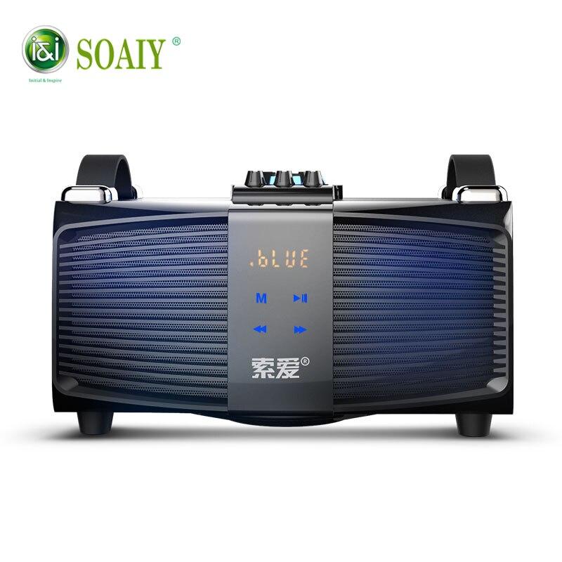 100% D'origine SOAIY S90 basse Bluetooth Haut-Parleur 30 w Haute Qualité Haut-Parleur avec des Basses Haut-parleurs D'ordinateur