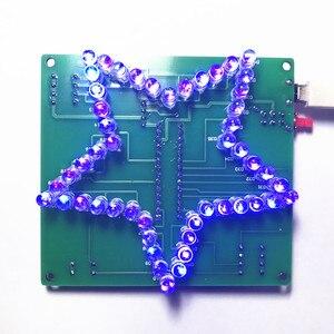 Image 3 - Colorido Estrella de Cinco Puntas LLEVÓ agua Luz 51 MCU luces LED electrónicos de producción DIY kit para enviar el programa