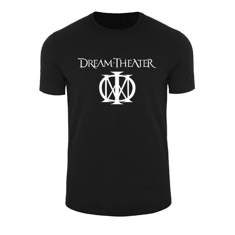 Cotton Shirts Cheap Wholesale Short Sleeve Printing Machine Crew Neck Mens Funny Hip Hop Printed Dream Theater Rock Band T Shi
