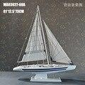 "1pcs 24"" 19""handmade wooden sailing Sloop Yacht model for desk shelf for decoration"