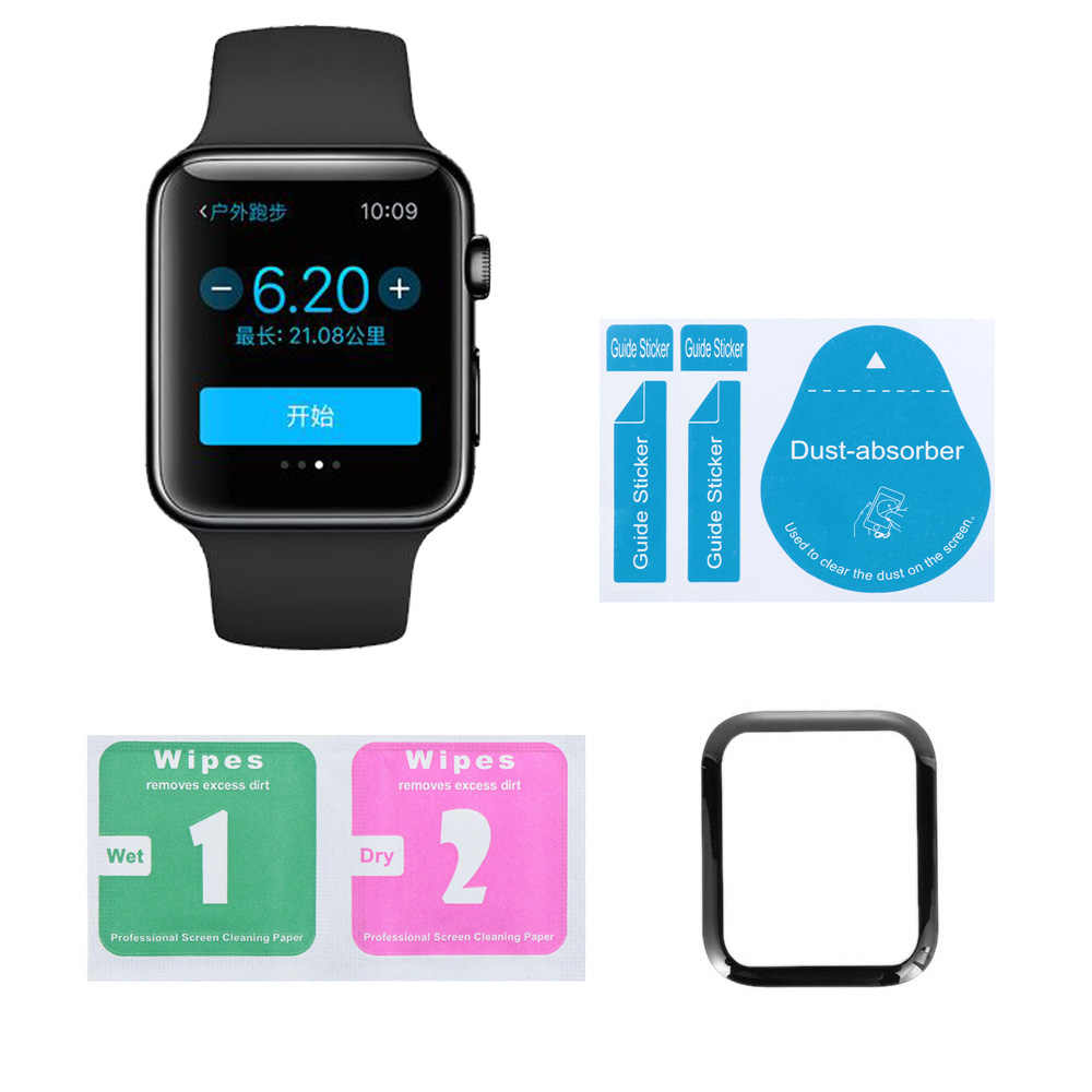 3D Glass Screen Protector Cover For Apple Watch 38mm 42 mm Mesh Tempered Glass Protective Film For Apple Series Watch 1/2/3