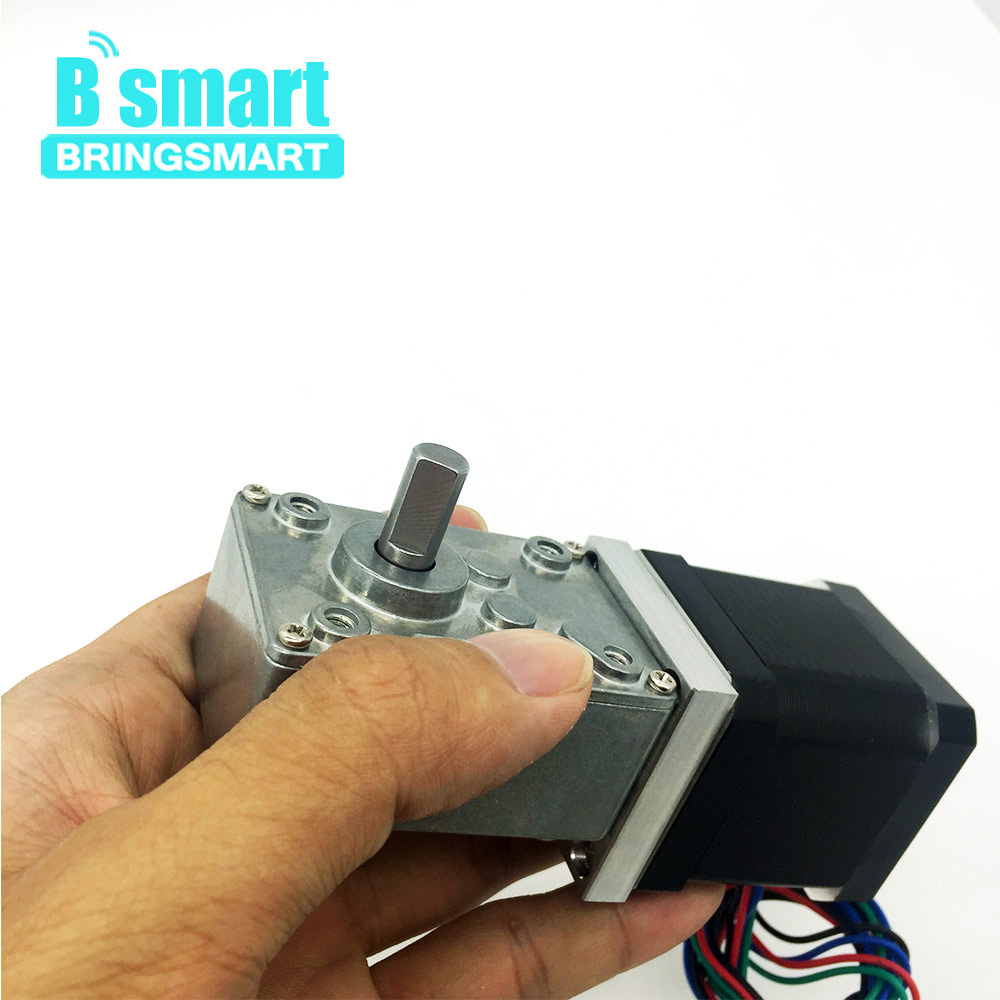 Bringsmart Worm Gear Motor 12v DC Motors ratio Reducer Mini Gearbox 24V Micro Electric Motor Tool For DIY A58SW 42BY