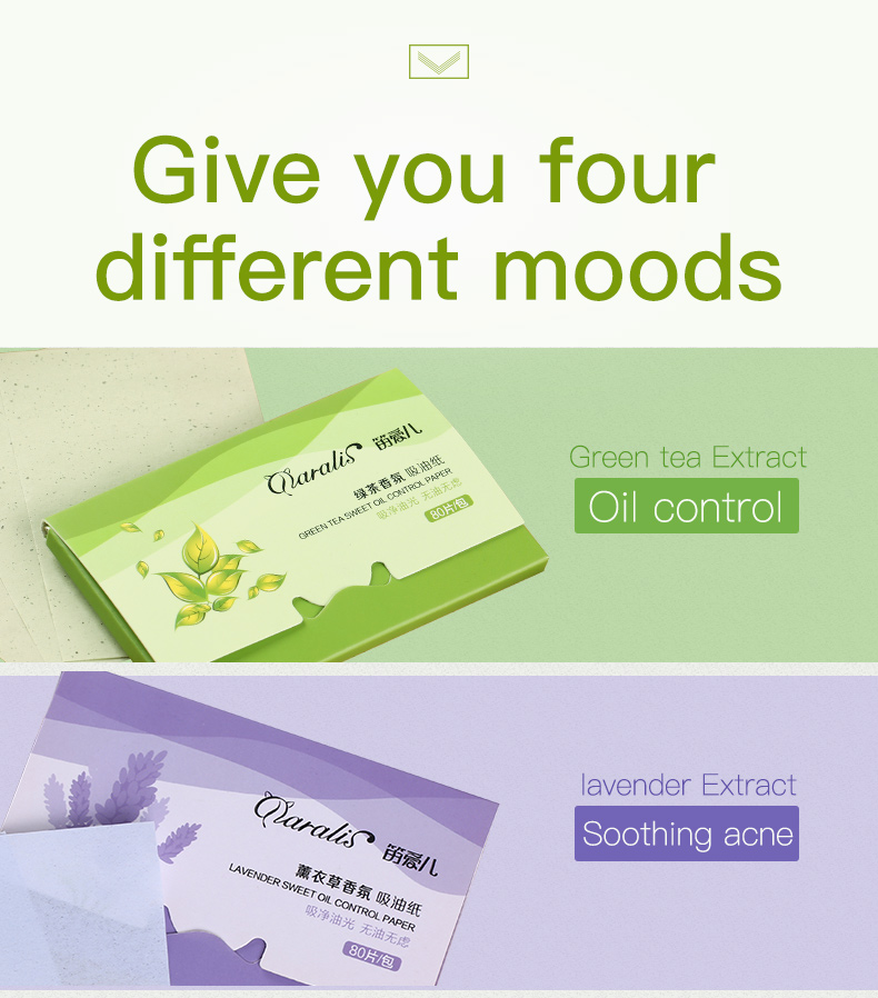 4 Pack/lot Daralis Facial Absorbent Paper Oil Control Sheets Deep Cleanser
