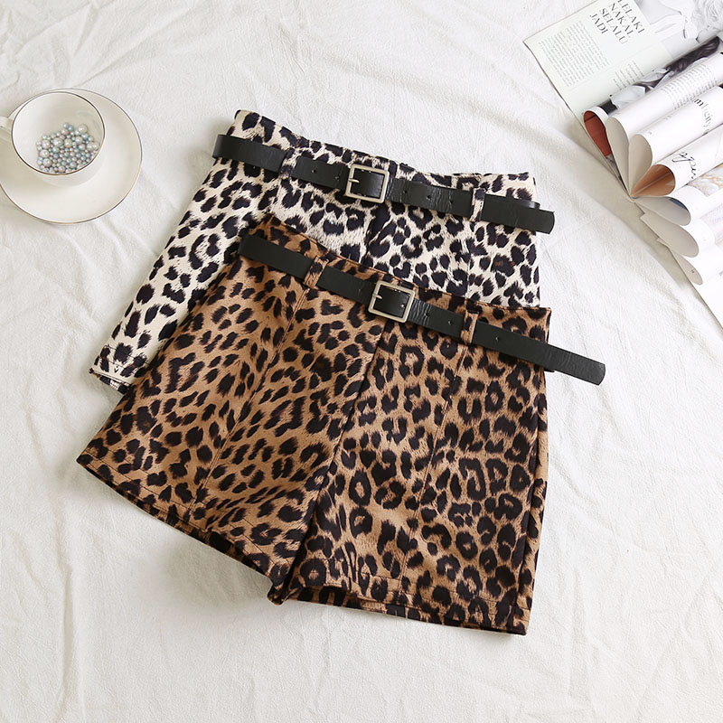 MUMUZI Sexy Leopard   Shorts   2019 Spring Fashion New Sexy Ladies Women Printed   Shorts   Hot Sale   Short   Trousers with free belt