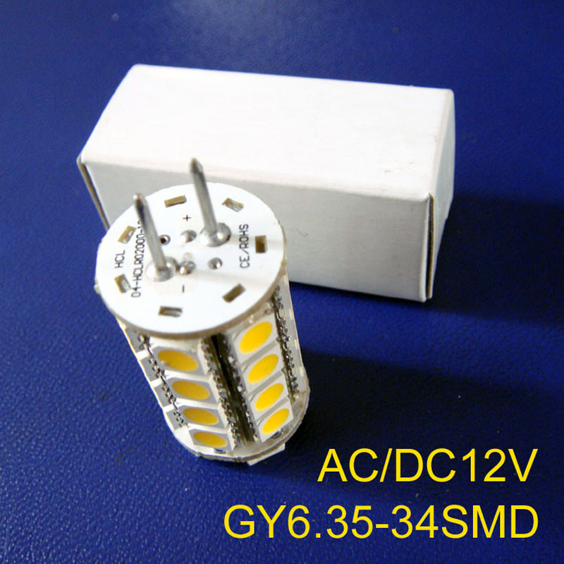 High quality GY6.35 led bulbs, AC/DC12V G6.35 led lamps, 12V led GY6 led light (free shipping 2pcs/lot)  high quality 12v gy6 35 led lights gy6 35 lights led g6 35 bulb g6 led free shipping 2pcs lot