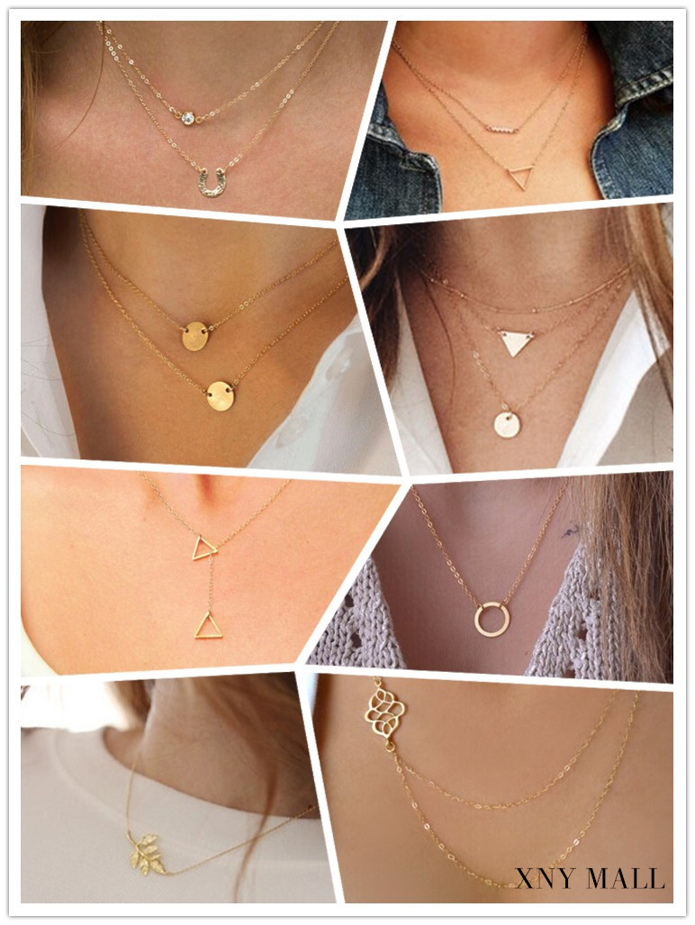 2015 New Brand Vintage Casual Personality Infinity Gold Plating Chunky Necklace Collar for Women Boho Jewelry