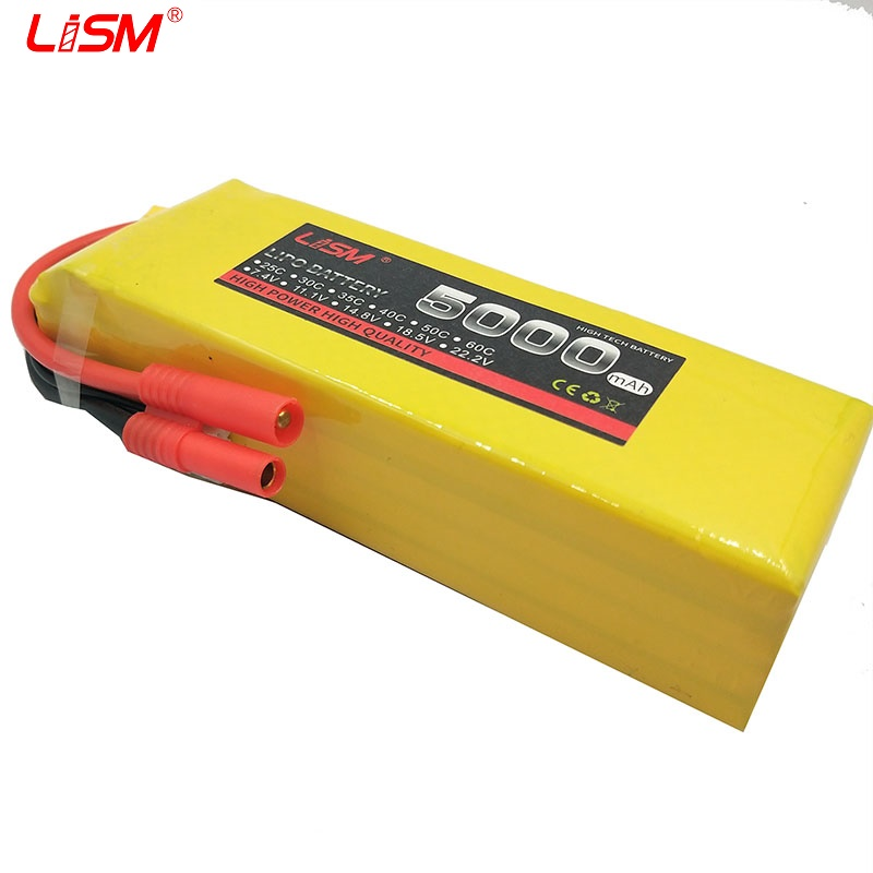 RC Battery 18.5V <font><b>5000mAh</b></font> 30C max 60C <font><b>5S</b></font> RC <font><b>LiPo</b></font> Battery for Helicopter Quadcopter Airplane Drone rc car boat fpv #20B11 image