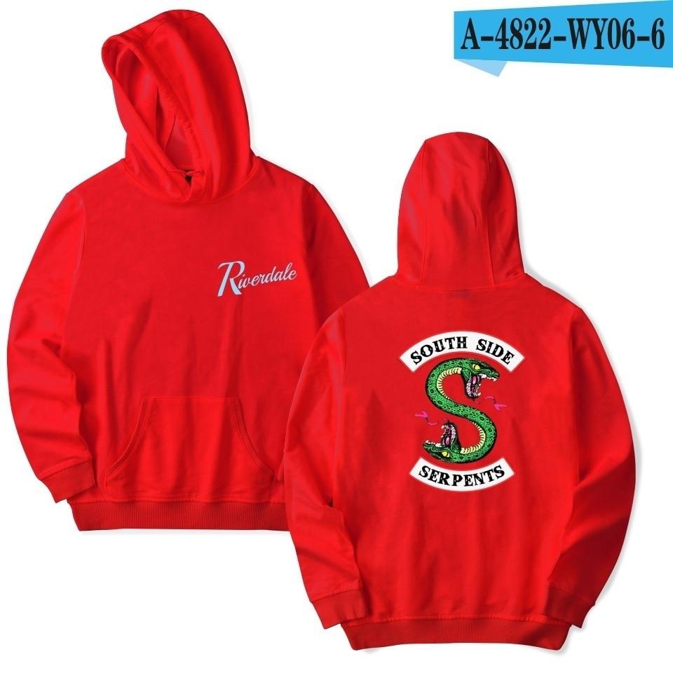 comprar popular c34ec bb683 US $13.49 45% OFF|southside serpents riverdale hood Hoodies Sweatshirts  Hooded Pullover sweatershirts male/Women sudaderas hoddie top fashion-in ...