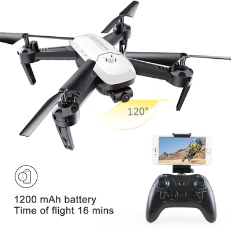 16Mins T6 Aerial RC Drone UAV Altitude Flying QuadCopter WIFI FPV RC Drone headless mode one key return rc helicopter vs XS809W jjrc h8d 2 4ghz rc drone headless mode one key return 5 8g fpv rc quadcopter with 2 0mp camera real time lcd screen s15853