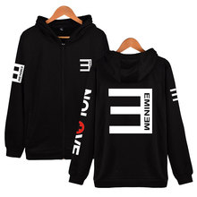 2018 Kassidy's Eminem Hip Hop Clothing Hoodies Slim Shady Sudaderas Para Hombre Zipper Men And Women Music Pattern Sweatshirt