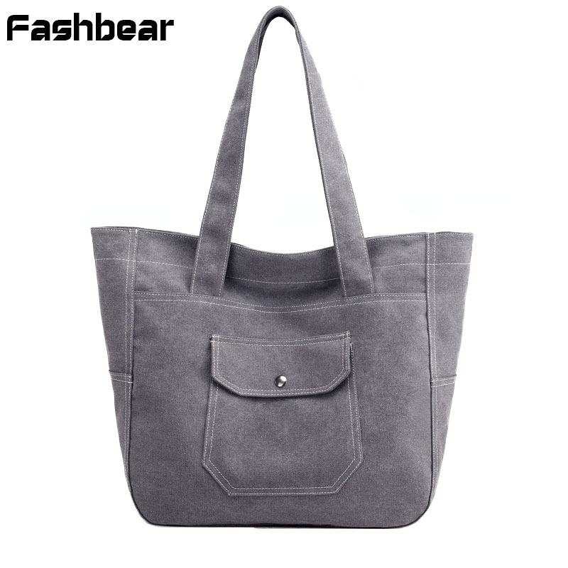 Canvas Woman Hand Bag Women Handbags Vintage Large Capacity Ladies Tote Bag Casual Girls Shoulder ShoppingBags Bolsas Feminine