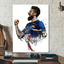 Olivier Giroud Drawing Team Of France Canvas Painting Print Living Room Home Decor Modern Wall Art Oil Poster Picture