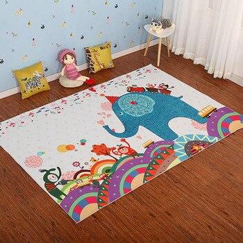 รูปแบบการ์ตูนห้องน้ำพรมเล่นเด็กทารกพรม 1 ชิ้น Anti - Slip เครื่องซักผ้า Crawling Pad Bath โซฟาพรม