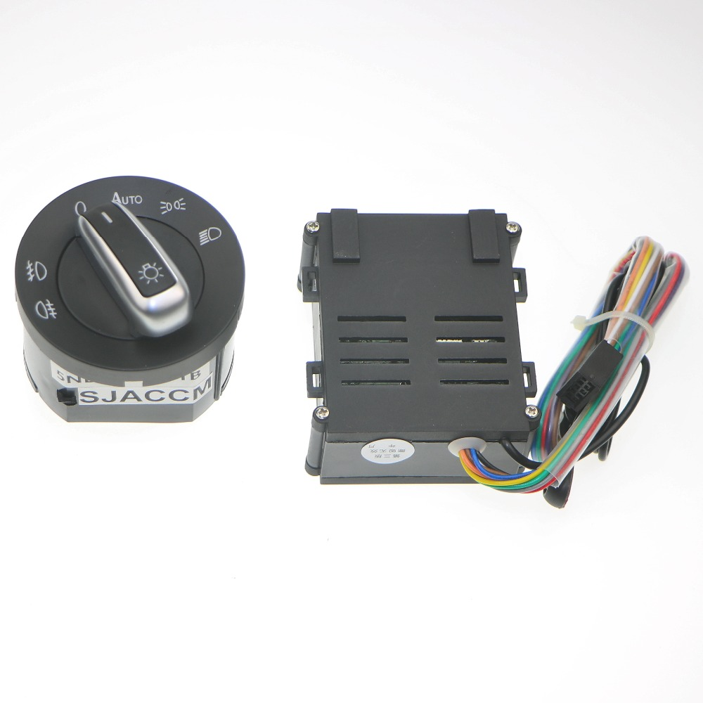 Car Lights Switch + Chrome Auto Sensor Light For Passat B5 Lavida Bora Polo Golf 4 New Jetta Santana Beetle 5ND 941 431 B