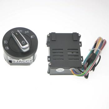 Las luces del coche interruptor + cromo Auto Sensor de luz para VW Passat B5 Lavida Bora Polo Golf 4 nuevo Jetta Santana escarabajo 5ND 941 B 431