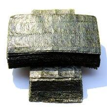 Algues Sushi Nori moitié coupées, vente en gros, qualité AAA, vert foncé, cuisson secondaire algues, meilleure vente, 100 pièces