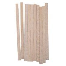 Varas quadradas de madeira para cavilha, varas de madeira dura de 20cm/8 polegadas para artesanato, 10 peças