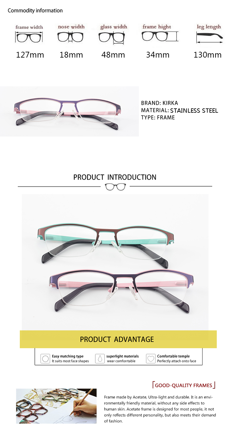 1a87cd419b Kirka nuevo diseño de marco de Metal para niñas montura de gafas para niños  montura de gafas para niñas