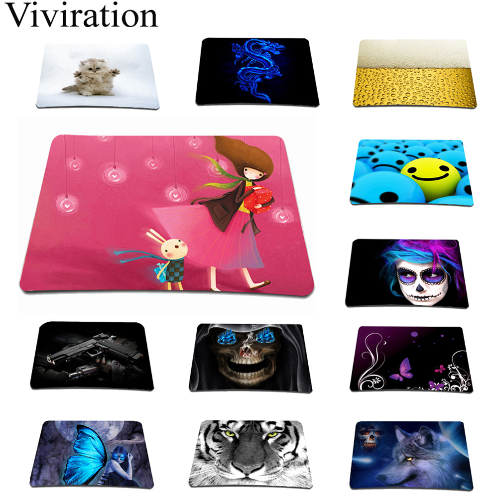 Office Work Mouse Pad 210 mm x 175 mm Small Size Rubber Mice Mat Gaming Computer Speed Mousepad For Overwatch League Of Legends