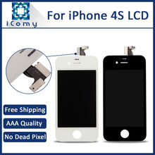 Black White, Good Quality LCD Full Assembly For iPhone 4S LCD Display With Touch Screen Digitizer Replacement, DHL Free Shipping