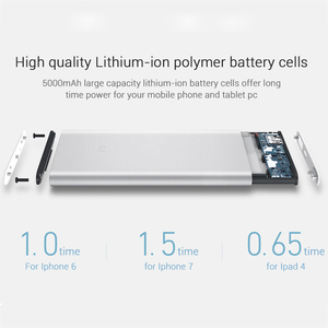 Image 4 - Original Xiaomi Power Bank 5000mAh 2 USB Portable Charger Slim Xiaomi Powerbank 5000 Li polymer External Battery for iPhone XS