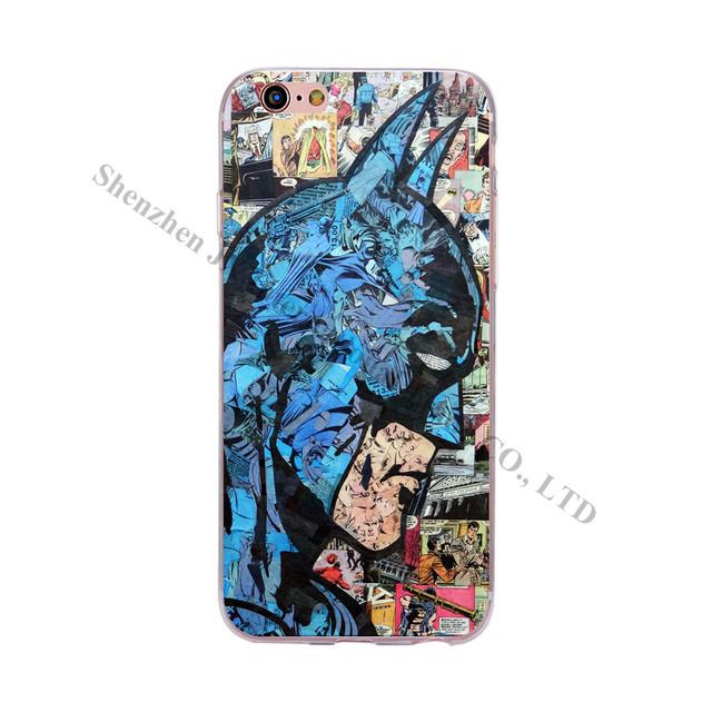 Superman Hulk Batman Ironman Spiderman Design  Phone Case For iPhone 6 6S 5 5S SE 7 Plus